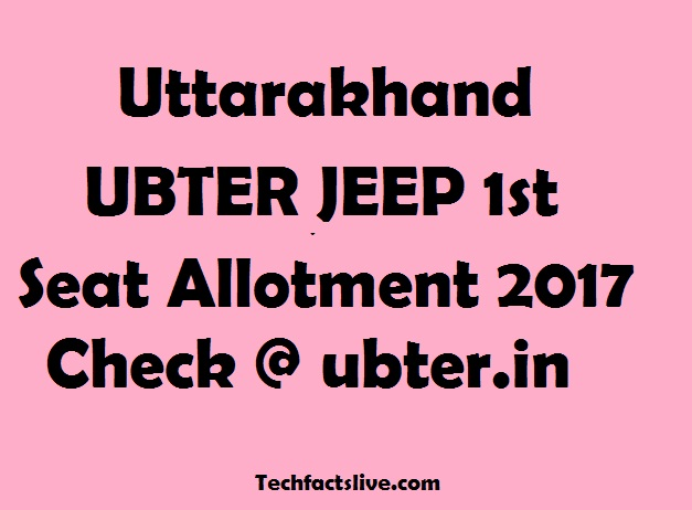Uttarakhand JEEP 1st Seat Allotment