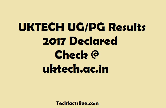 Uttarakhand Technical University Results 2017