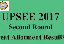 UPSEE 2017 Second Round Seat Allotment Results