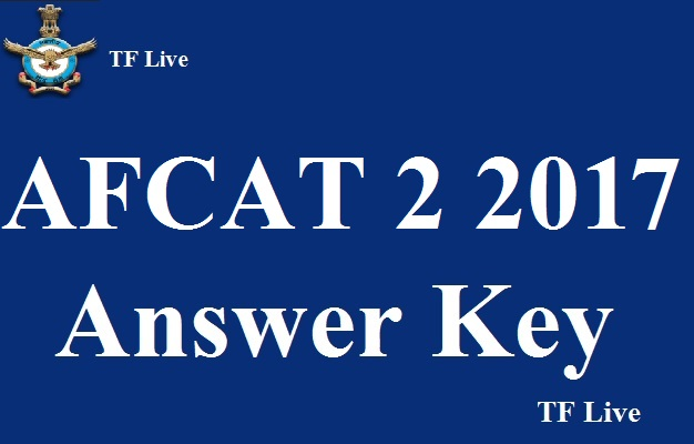 AFCAT 2 2017 Answer Key