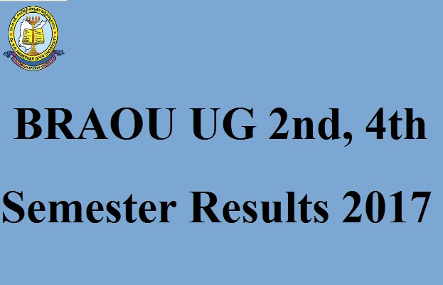BRAOU UG 2nd, 4th Semester Results 2017