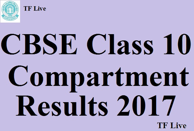 CBSE Class 10 Compartment Results 2017