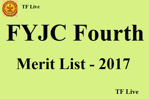 FYJC 4th Allotment merit List 2017 released by mumbai