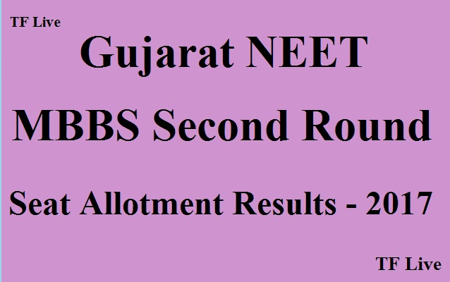 Gujarat NEET MBBS Second