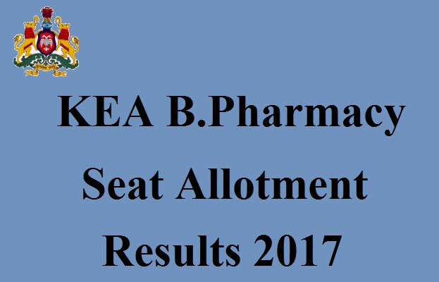 KEA B.Pharmacy Seat Allotment Results 2017