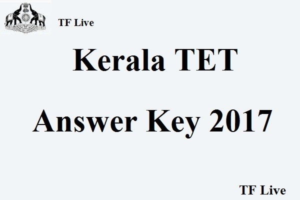 Kerala TET Answer Key 2017