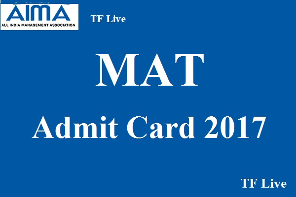 MAT Admit Card 2017
