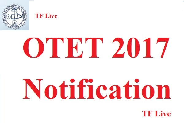 OTET 2017 Notification