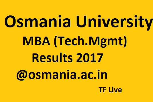 OU MBA Tech.Mgmt Results