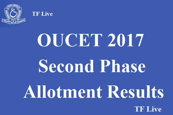 OUCET 2017 Second Phase Allotment Results