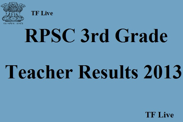 RPSC 3rd Grade Teacher Results 2013