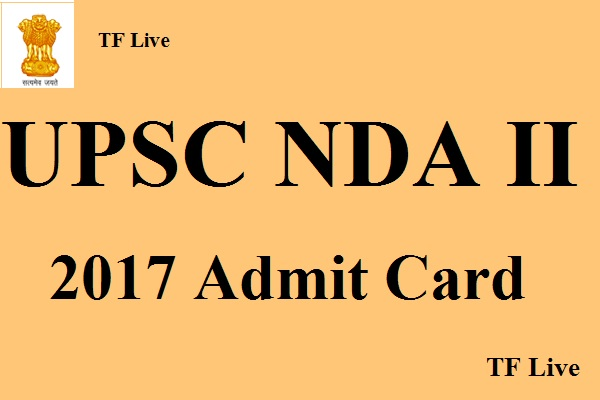UPSCNDA II 2017 Admit Card