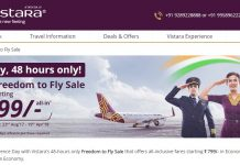 Vistara Freedom to Fly Sale