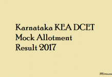 Karnataka KEA DCET Mock Allotment Result 2017