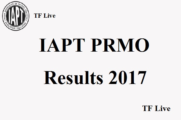 IAPT PRMO Results 2017