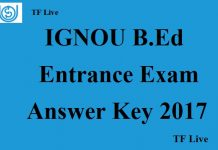 IGNOU B.Ed Entrance Exam