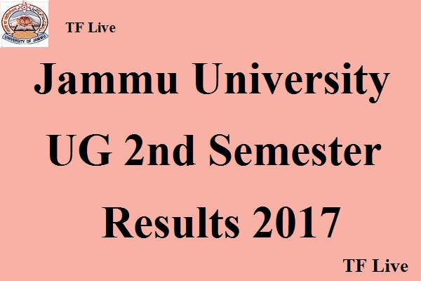 Jammu University UG 2nd Semester