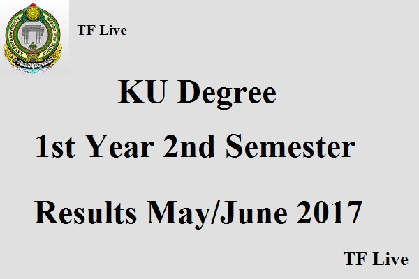KU Degree 1st Year 2nd Semester Results May June 2017