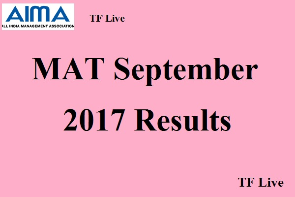 AIMA MAT September 2017 Results