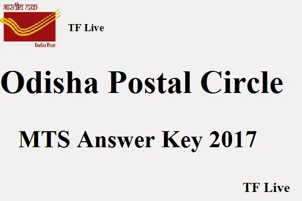 Odisha Postal Circle MTS Answer Key