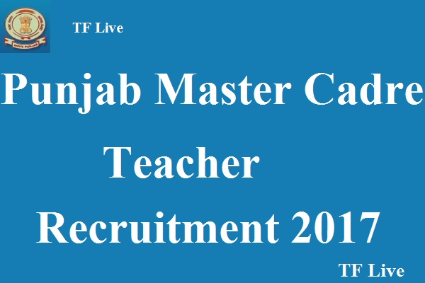 Punjab Master Cadre Teacher Recruitment
