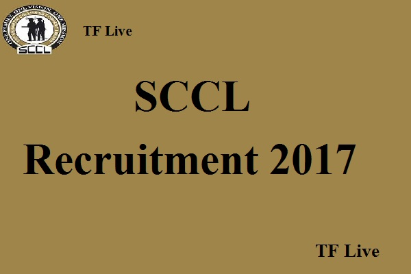 SCCL Recruitment 2017