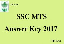 SSC MTS Answer Key 2017