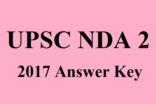 UPSC NDA 2 2017 Answer Key (1)