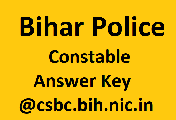 Bihar police constable answer key
