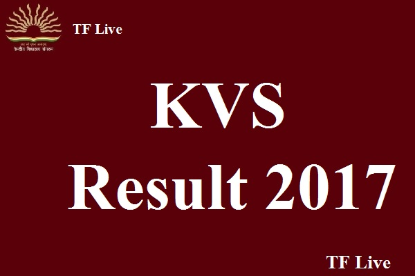 KVS PGT, TGT and PRT Result