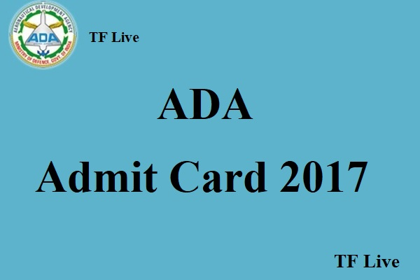 ADA Admit Card 2017
