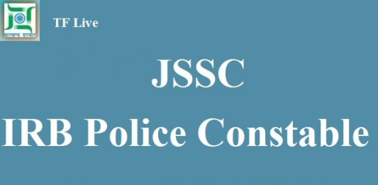 JSSC IRB Police Constable Admit Card 2017