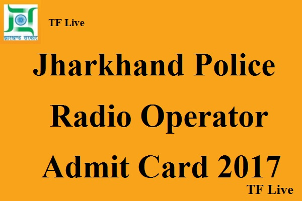 JSSC Police Radio Operator Admit Card