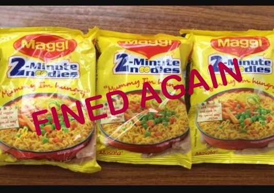 Maggi Noodles Fined