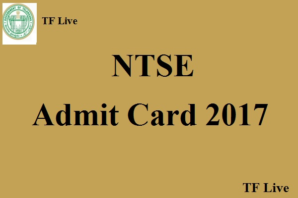 NTSE Admit Card 2017