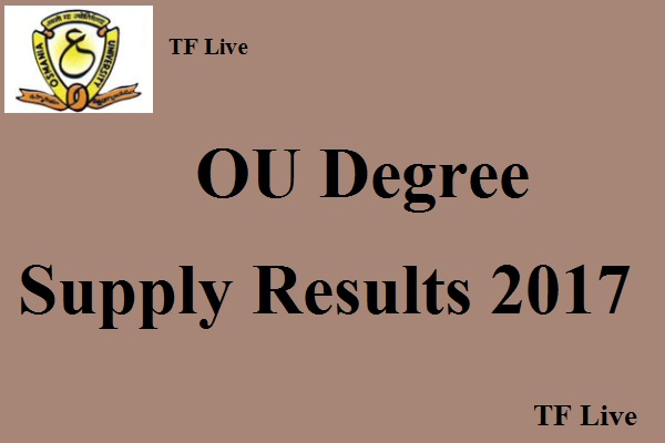 OU Degree Supply Results 2017