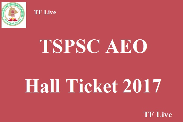 TSPSC AEO Hall Ticket 2017