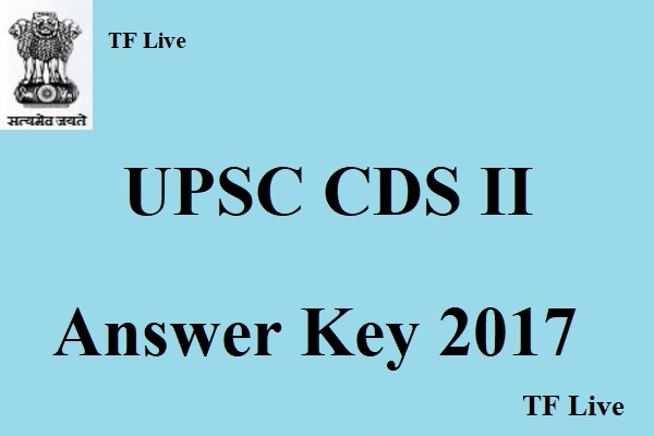 UPSC CDS 2 Answer Key