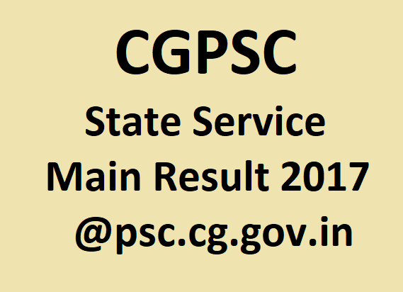 CGPSC State Service Main Result