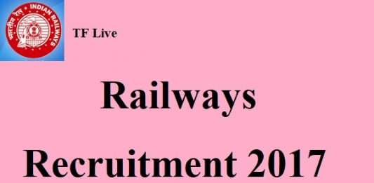 West Central Region Railways Recruitment 2017